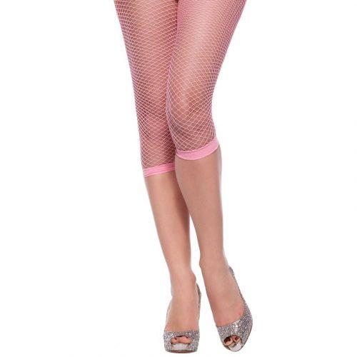la211-Footless-fishnet-tights-pink