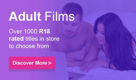 Over 1000 R18 rated films to choose from