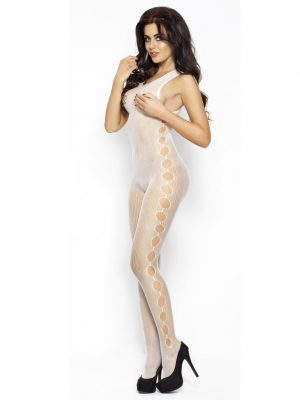Sexy white full length net body stocking