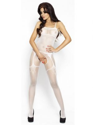 Full length body stocking bodystocking faux garter detail