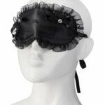 Black-satin-frilly-eye-mask-with-jewel-on-head-0000028464-000035300