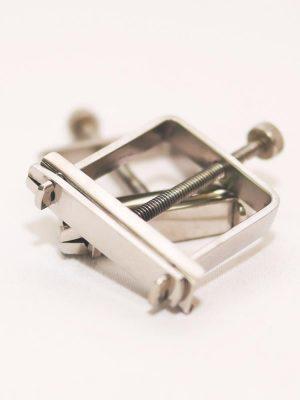 Metal screw nipple clamps for bondage BDSM sex