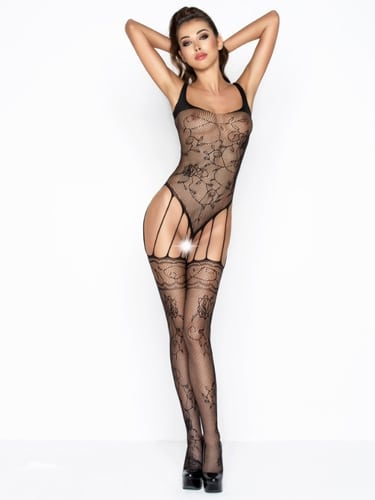 Black-body-stocking-sexy-with-garter-detail-front-long