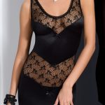 black-silk-lace-sexy-tight-dress-petra-chemise-front-close-up