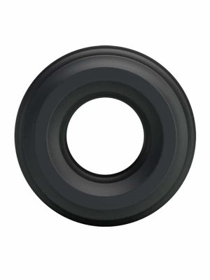 Black ribbed cock ring for men's penis