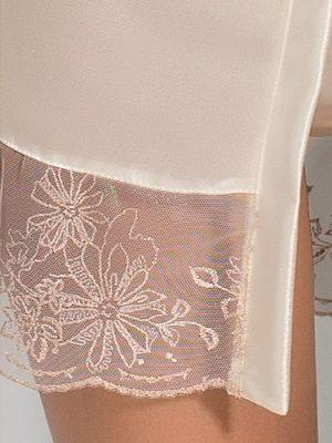 Ivory Cream Sexy Tie Wrap Dress lace detail