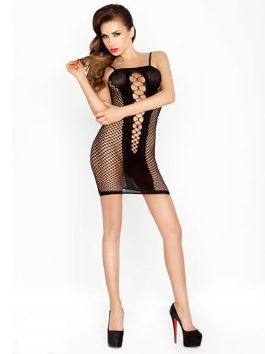 short-black-tight-sexy-cut-out-dress-front