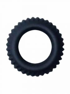 Black textured cock ring sex toy