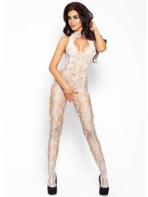 White lace full length body stocking sexy