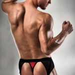 mens-red-and-black-pouch-briefs-with-g-string-back-bum