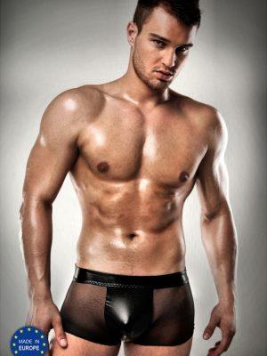 Mens sheer wet look sexy stripper shorts
