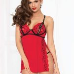 Seven-til-midnight-red-and-black-babydoll-chemise-sexy-lingerie