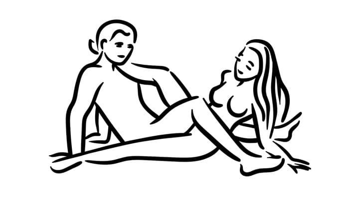 Scissor sex position for women