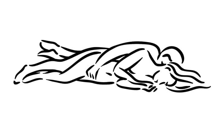 The spooning sex position