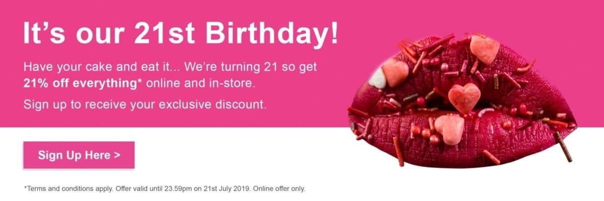 21st birthday homepage banner new 2