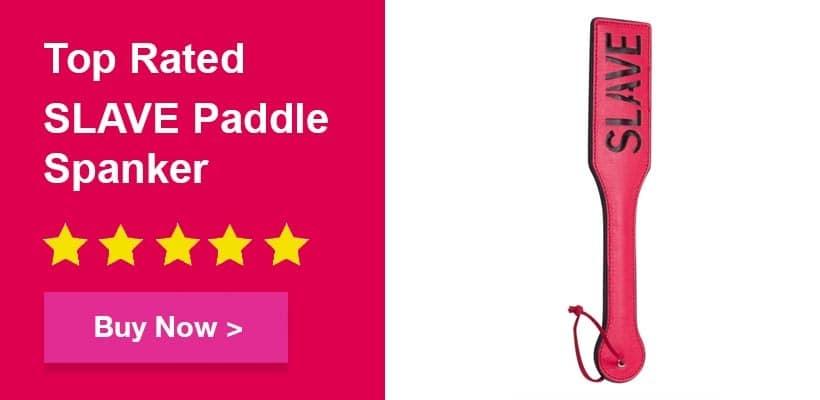 Bondage top rated slave paddle spanker for bondage fetish play
