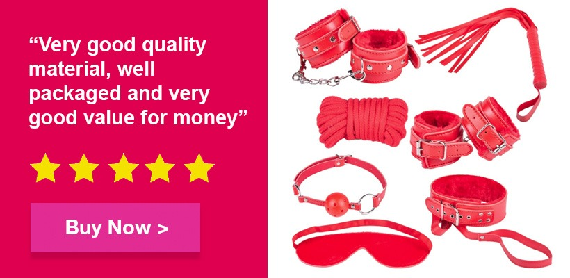 Red bondage kit good quality set pulse and cocktails