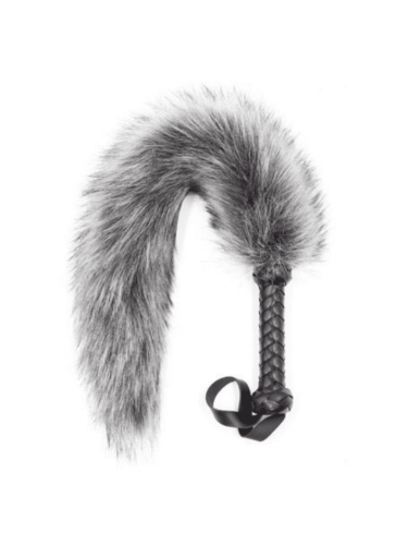 Furry Whip With Black Handle