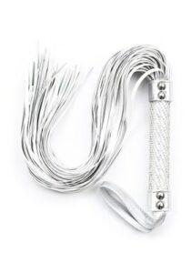Crop-Studded-Diamond-White-Flogger-Tassles