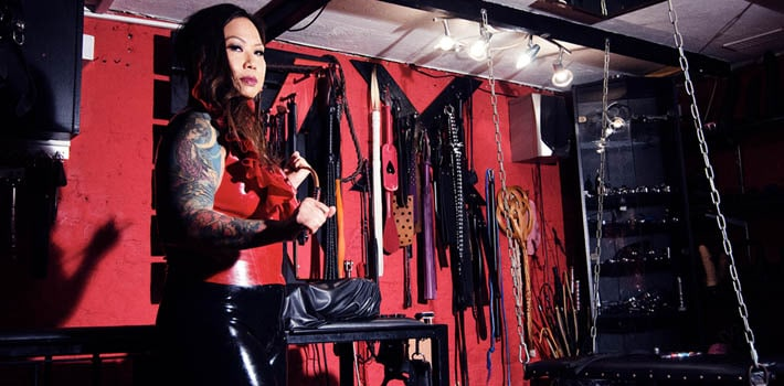 Madame LiYing London Dominatrix interview with pulse and cocktails dungeon