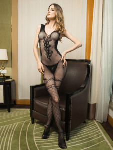 full-floral-bodystocking