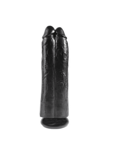 2 in 1 double dildos black 11 inches