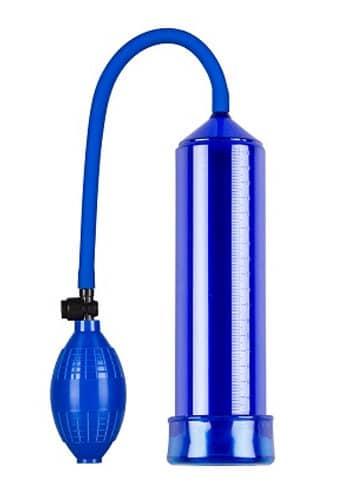 Blue Penis Pump Beginners Handle Pump With Sleeve