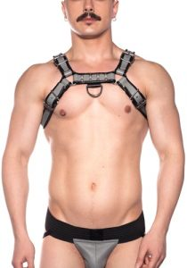 Prowler-Grey-Bull-Harness-Front