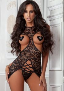 long-teddy-gown-black-front-lingerie