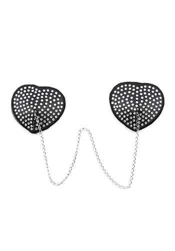 silver chain heart nipple covers with adhesive