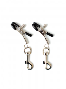 nipple clamps - sliver nipple clamp -silver clamp - clip clamp - nipple clips
