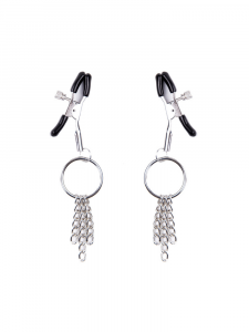 nipple clamps - silver nipple clamps - nipple tassels - adjustable nipple clamps