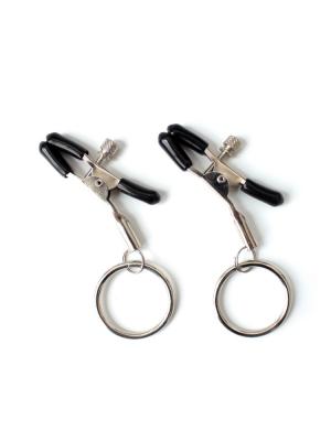 nipple clamp - silver clamps - silver nipple clamps - nipple clamps silver - hoop clamps - nipple hoops - nipple tassels
