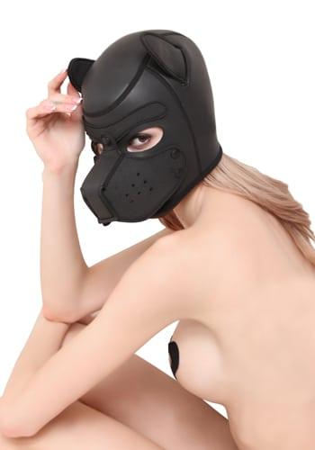 neoprene puppy hood woman front image