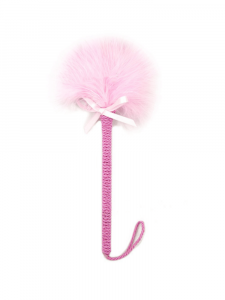 pink feather tickler - pink feather tickler with bow - pink tickler - feather tickler