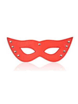red leather eye mask - Red eye mask - leather eye mask - stud mask - leather mask