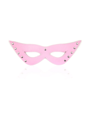Leather eye mask - pink eye mask - studded eye mask - pink studded eye mask - leather studded eye mask