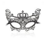 Black lace crown eye mask