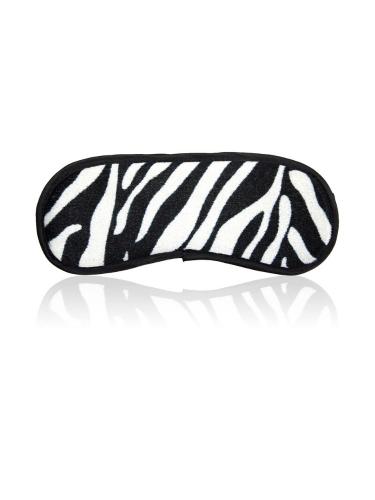 Zebra print eye mask