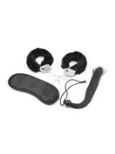 bondage kit - bondage set - black bondage kit - 3 piece black bondage kit