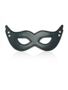 black eye mask - studded eye mask - black mask - leather eye mask - leather mask - black devil mask