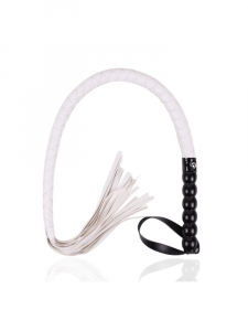 white flogger - white whip - white flogger whip - white leather whip - white leather flogger - white whip - white flogger - leather whip - leather flogger