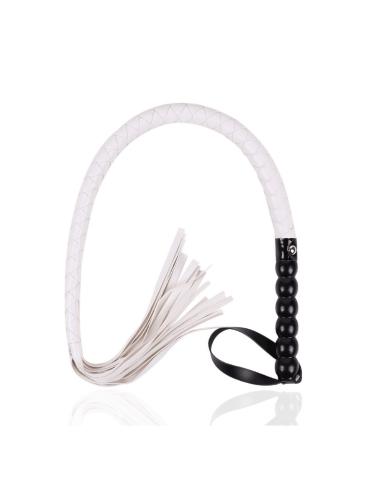 white flogger whip