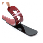 black heart red paddle glossy