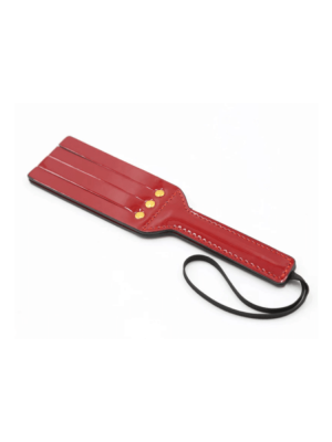 glossy red spanking paddle - red paddle - red spanker - glossy paddle