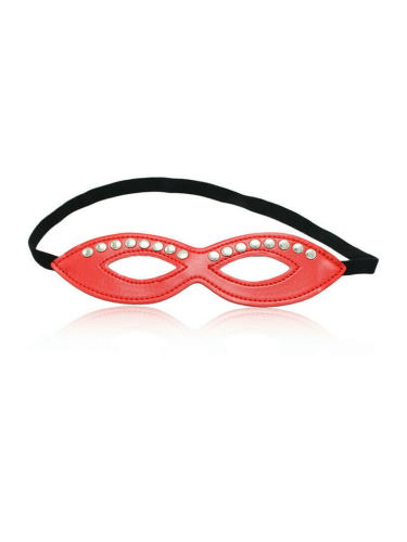 red leather studded eye mask