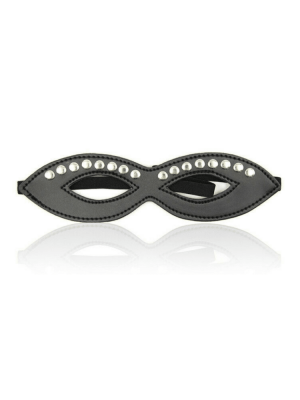 16 stud eye mask - black eye mask - leather eye mask - fetish eye mask