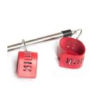 spreader bar with 4 red cuffs