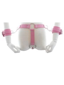 wrist and waist harness pink