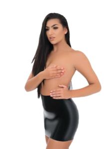 latex skirt sexy